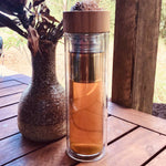 Glass Infuser with Bamboo Lid 500ml