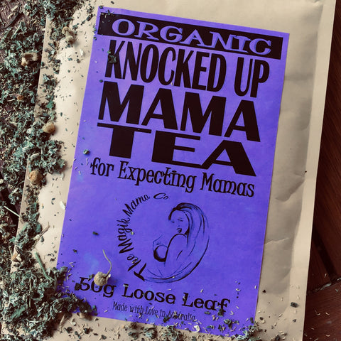 Knocked Up Mama Tea - Pregnancy Raspberry Leaf Blend