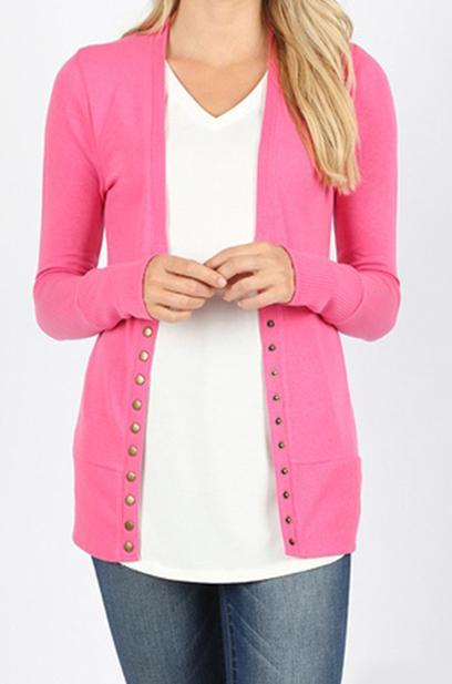 Rachel snap button cardigan
