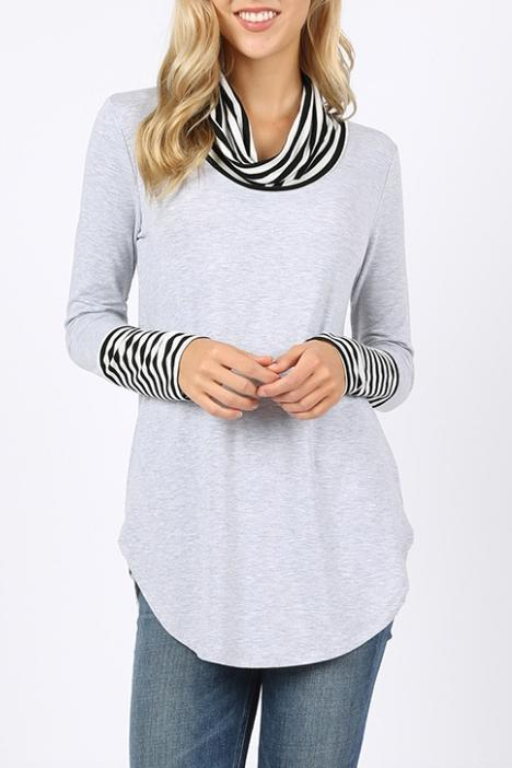 Carolyn Cowl Neck Long Sleeve