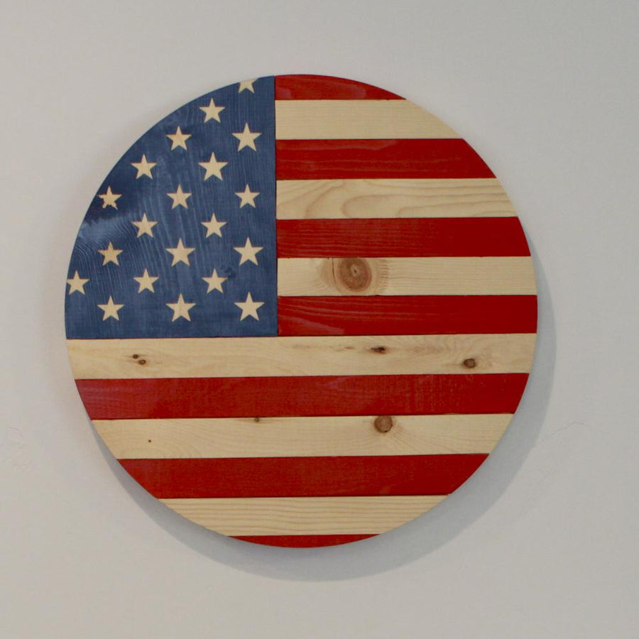 American Flag Round