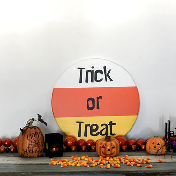Candy Corn Trick or Treat Halloween Rounds