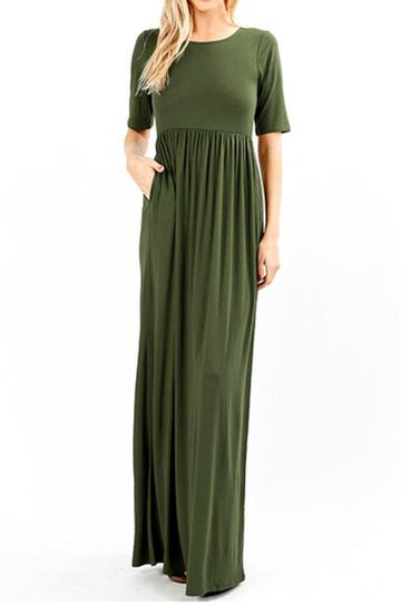 Nicole 1/2 Sleeve maxi dress