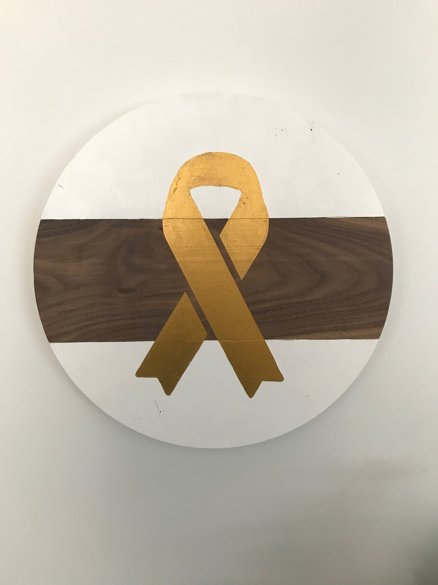 Gold Ribbon Round