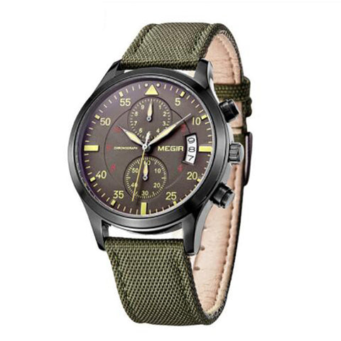 Canvas Military Quartz Wristwatches