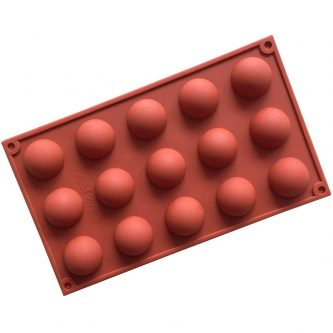 15 Cavity Half Ball silicone Mold
