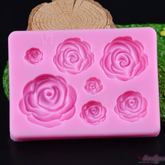 7 Cavity Floral Silicone Mold