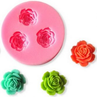 3 Multi-Flower Silicone Mold