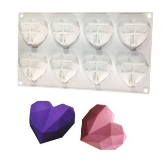 8 Cavity Diamond Heart Mold