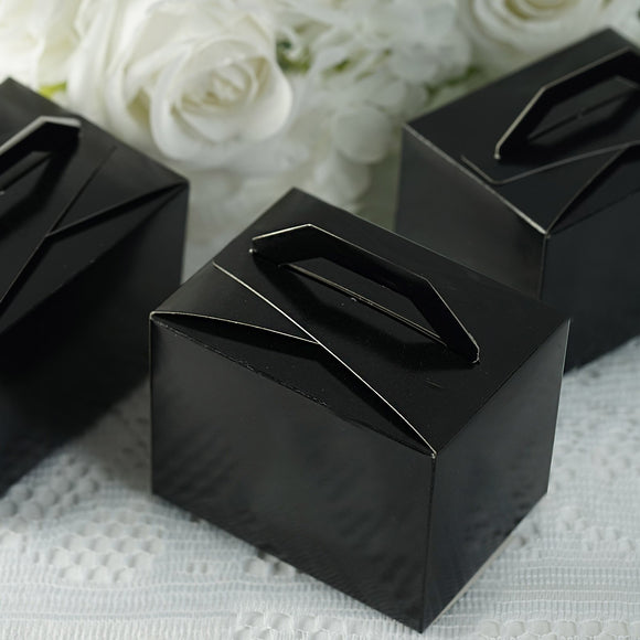 Black Tote Favor Boxes