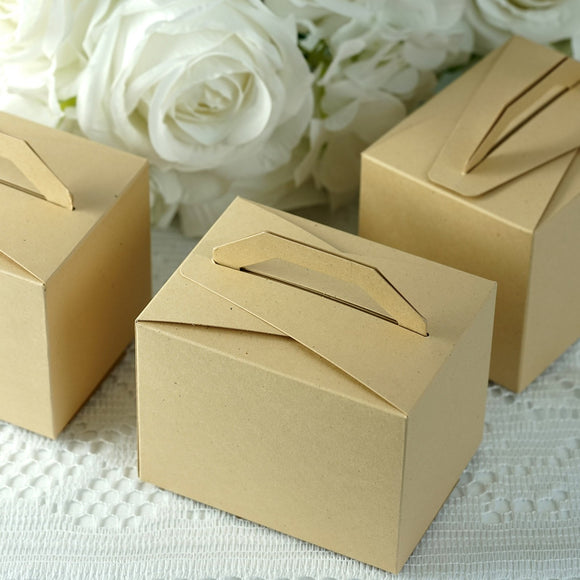 Natural Tote Favor Boxes