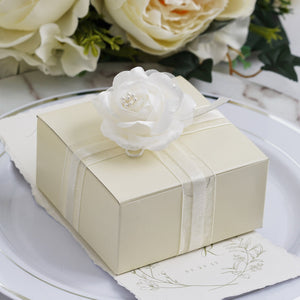 Ivory Cake Party Favor Boxes