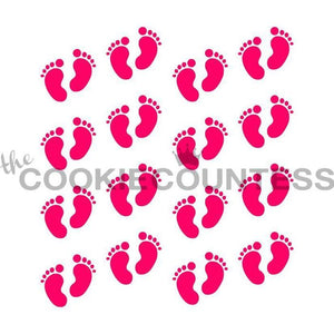 Baby Footprints Pattern Stencil
