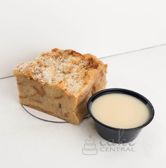 Coconut Rum Bread Pudding Slice