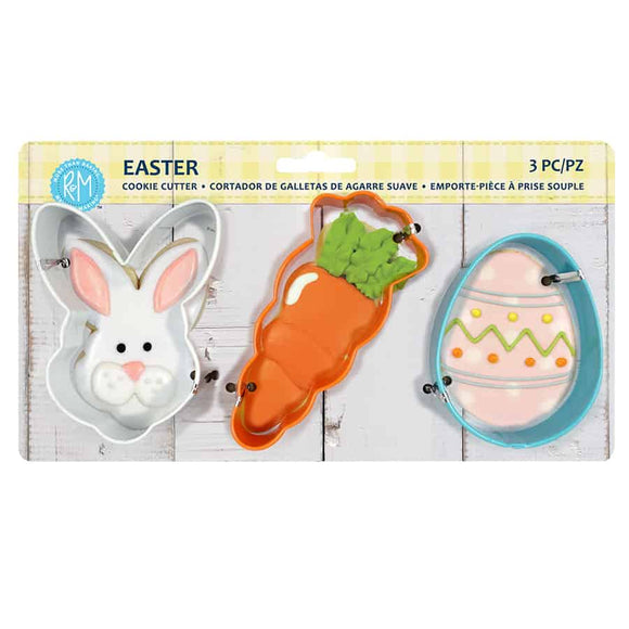 EASTER 3PC COLOR COOKIE CUTTER CARDED SET