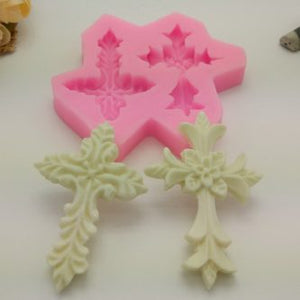Embellished Cross Silicone Mold