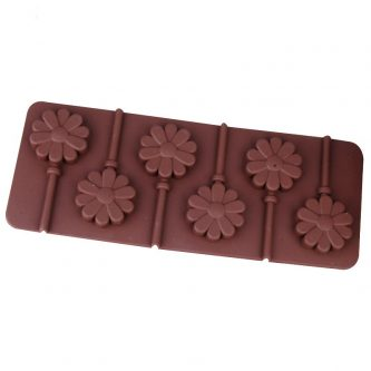 6 Cavity Flower Lollipop Mold