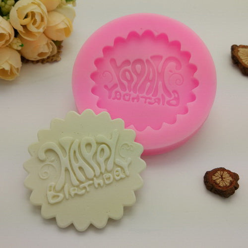 Happy Birthday Embossing Silicone Mold