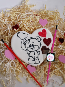 Paint-Your-Own (PYO) Teddy Bear Cookie