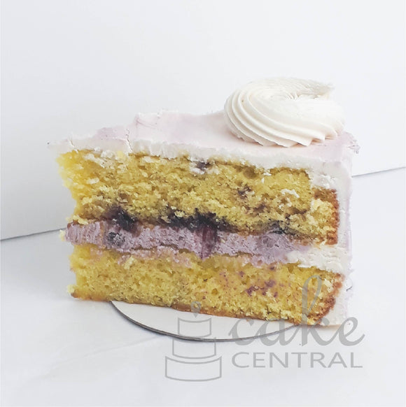 Lemon Blueberry Cake Slice