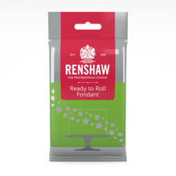 8.8oz Bright Green Renshaw Ready-To-Roll Fondant