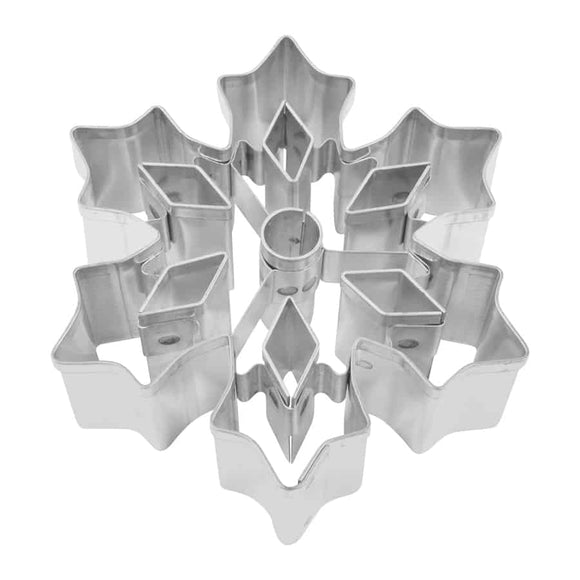 "SNOWFLAKE ""C"" 3″ W/CUTOUTS COOKIE CUTTER"