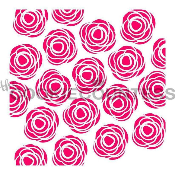 Scribble Roses Stencil