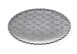"12"" SILVER CIRCLE SCALLOPED CAKE BOARD"