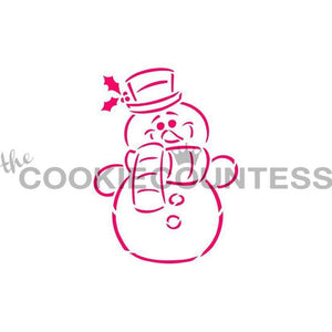 Snowman Stencil - Drawn by Krista