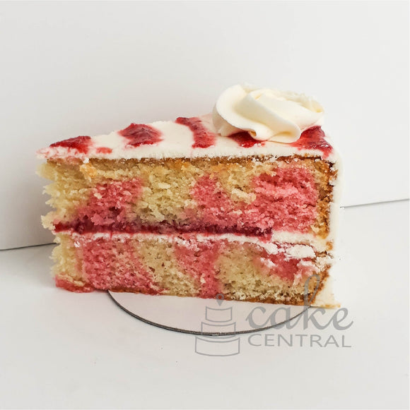 Strawberry Swirl Cake Slice