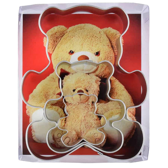 TEDDY BEAR COOKIE CUTTER (3 PC SET)
