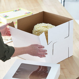 "10"" x 10"" x 12"" Tall Corrugated Cake Box"
