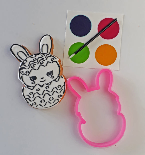 Paint-Your-Own (PYO) Bunny in Egg Cookie Stencil Set