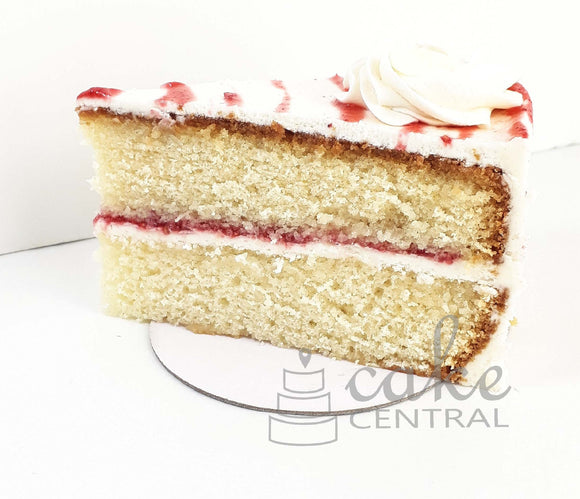 White chocolate and Raspberry Cake Slice