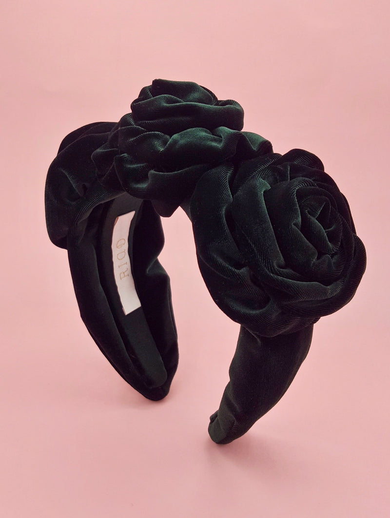 Royal Emerald Velvet Rosette Headband
