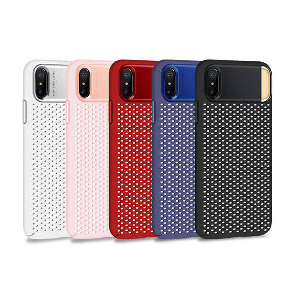Heat Dissipation Phone Case for iPhone X With Holder Stand