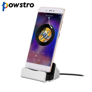Powstro Type C USB Charger Dock Station Holder Charging for iPhone 7 Plus 6 6S Plus 5 5S SE 5C