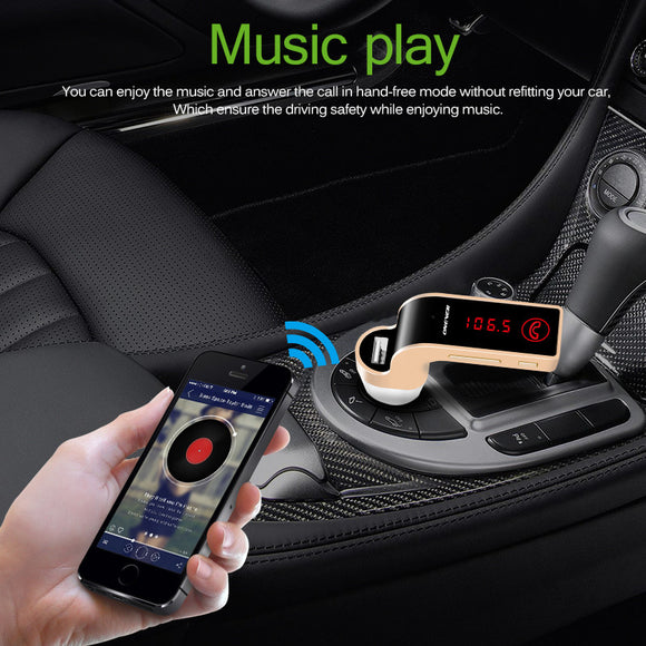 4 In 1 Bluetooth FM Transmitter Modulator Car Kit MP3 Player With LCD Display USB TF