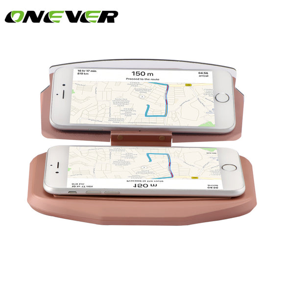 Onever Car Head Up Display Projector Phone GPS Navigation Holder Multifunctional Reflection