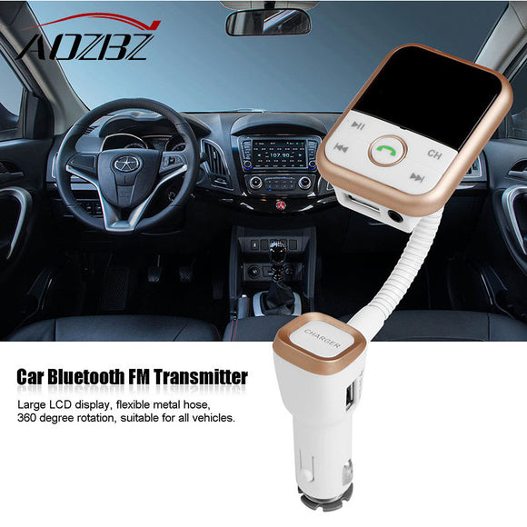 AOZBZ Car LCD Bluetooth FM Transmitter MP3 Player Music TF USB