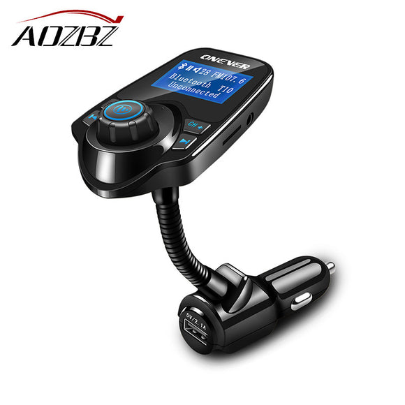 AOZBZ 12-24V Bluetooth MP3 Player Hands-free Call Wireless FM Modulator LCD