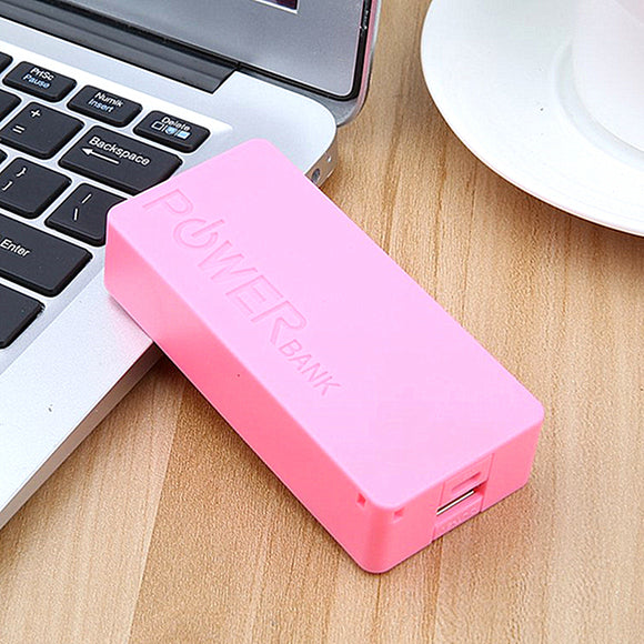 5600mAh USB Charging Portable External Backup Battery Charger 2*18650 Battery Power Bank
