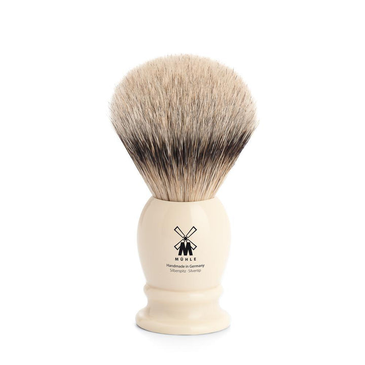 MÜHLE Classic Medium Faux Ivory Silvertip Badger Shaving Brush