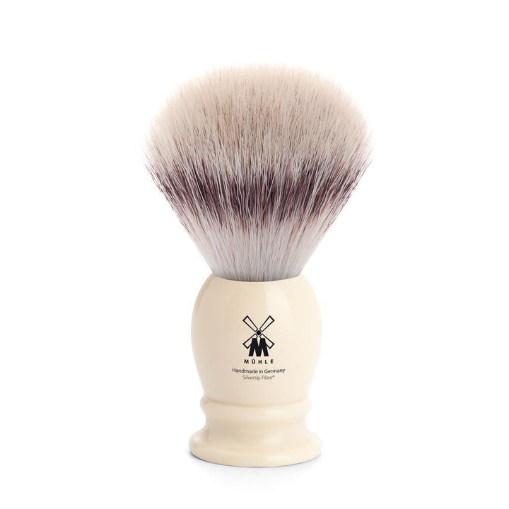 MÜHLE Classic Medium Faux Ivory Silvertip Fiber Shaving Brush