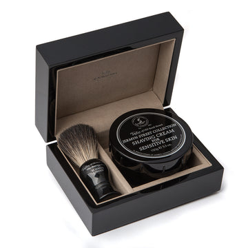 Taylor of Old Bond Street Jermyn Street & Pure Badger Luxury Wooden Gift Box