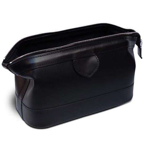 Piccadilly Gladstone Style Leather Wash Bag