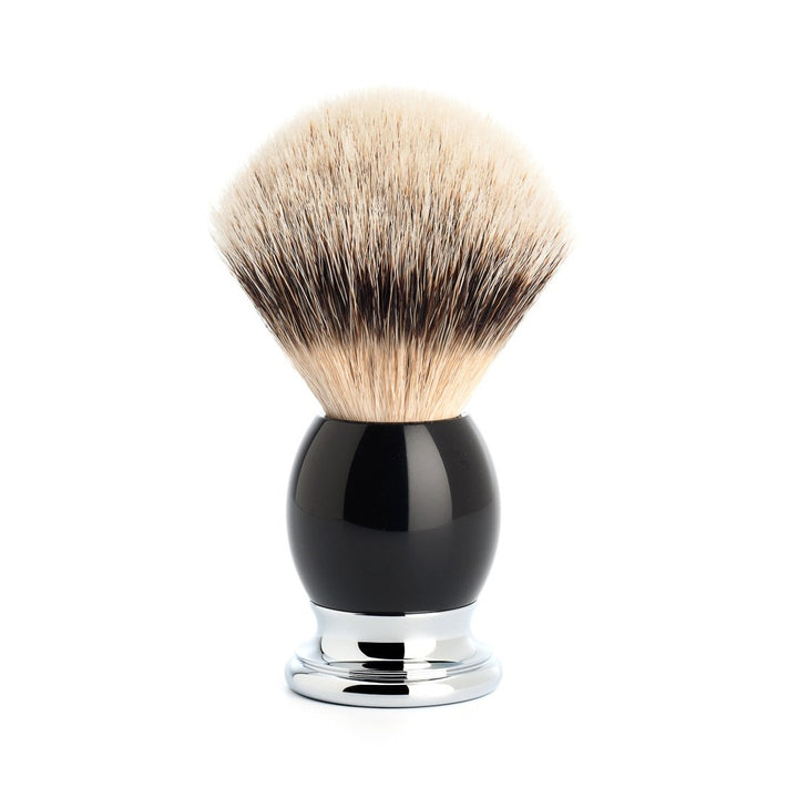 Muhle Silvertip Badger Sophist Shaving Brush, Black