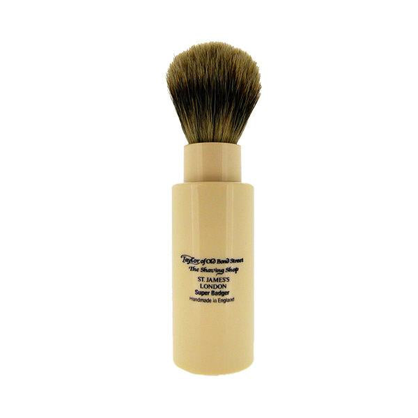 Taylor of Old Bond Street Turnback Travel Super Silvertip Badger Shaving Brush