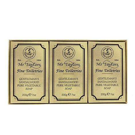 Taylor of Old Bond Street Sandalwood Bath Soap Gift Set