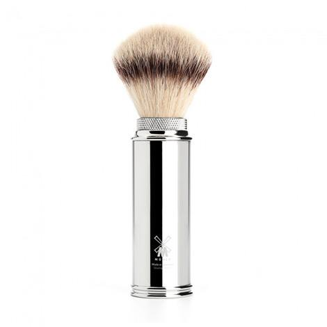 Muhle Travel Shaving Brush, Chrome Plated Metal